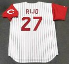 JOSE RIJO Cincinnati Reds 1993 Majestic Throwback Home Baseball Jersey on Ebay