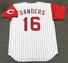 REGGIE SANDERS Cincinnati Reds 1995 Majestic Throwback Home Baseball Jersey on Ebay