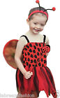New Lady Bird Insect Toddler Costume Girls Fancy Dress Outfit