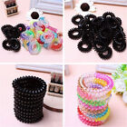 10pcs/set Spiral Slinky Elastic Rubber Tie Wire Coil Hair Bands Rope Ponytail