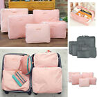 5PCS IN 1 Travel Luggage Packing Clothes Cube Storage Organizer Bags Waterproof