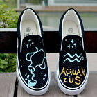Brand New Fashion Hand-painted Luminous Zodiacal Signs Comfortable Canvas Shoes