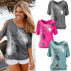 Fashion Ladies Women's Summer Casual Loose Top Short Sleeve Blouse T Shirt Tops