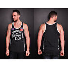 Roots of Fight Iron Mike '88 Striped Tank Top - Black Heather