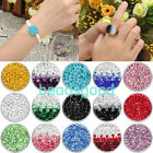 1x Charms Gradual Change Color Button Fit Punk Leather Popper Bracelet DIY