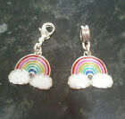 1 x Pretty Rainbow Enamel Charm European or Clip On