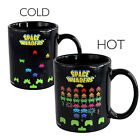 Novelty Heat Sensitive Changing Mug Cup Hot Cold Pacman Tetris Space Invaders