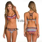 Women Floral Print Padded Two Pieces Bikini Set Swimwear Swimsuit Bathing TXCL