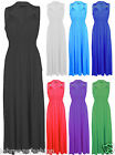 New Ladies Women Spring Coil Maxi Dress Sleeveless Long Jersey Stretch Maxi Dres