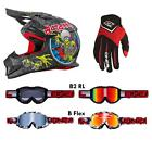 O'Neal Moto XXX World Tour Rot Combo Set MX Helm Brille Handschuhe Moto Cross