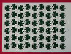 54 Shamrock Shaped Stickers, lots of colours, decoration, tanning tattoos