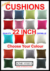 High Quality Chenille Piped Edge Large 22 Inch Cushions - Many Colours