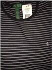 NWT Lauren Ralph Lauren Striped Crew Neck Long Sleeve Tee Top