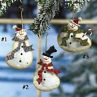 Metal Snowman Ornament- Priced Each, 3 Different Designs to Choose From