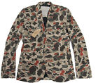 Polo Ralph Lauren Denim & Supply Mens Brown Camo Slim Sportcoat Blazer Jacket