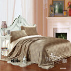 New Brown Floral Quilt/Duvet/Doona Covers Set Queen/King Size Bed Linen