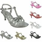 GIRLS INFANTS PARTY STRAPPY SANDALS SHOES DIAMANTE DETAIL LOW HEEL PLATFORM SIZE