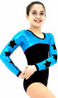long sleeve gymnastic dance leotard 'sky' odettedancesport'
