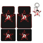 New Betty Boop Red Star Logo Car Truck SUV Front Rear Back Rubber Floor Mats $28.98 USD