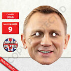 Daniel Craig James Bond Celebrity Card Mask Fun For Parties £1.19 GBP on eBay