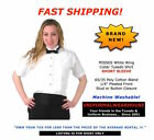 NEW Misses SHORT SLEEVE WING TIP White Pleated Ladies Tuxedo Shirt ALL SIZES