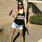 "Women""CHAMPAGNE CAMPAIGN"" Sexy Sleeveless Shirt Black Vest Cool Blouse Tank Tops"