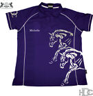 ***HEELS DOWN CLOTHING***PERSONALISED COOLDRI POLO..YOUR NAME AND HORSES NAME