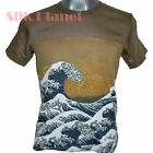 JAPANESE HOKUSAI GREAT WAVE TSUNAMI PAINTING ASIAN ART PRINT MENS T SHIRT *