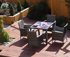 Mixed Grey Rattan Garden Furniture Dining Table Set 4 6 8 Chairs Conservatory
