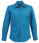 Studio 10 Mens Slim Fit Luxury Casual Dress Shirt  97 % Cotton 3% Spandex, DS-98