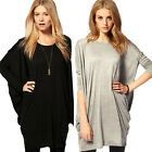 New Chic Ladies Loose Casual Long Sleeve Batwing Shirt Tops Blouse Tee Cute LCF