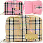 Ladies / Womens / Girls Checked / Tartan Style Bi-Fold Purse / Multiple Features