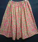 LADIES SKIRT PINK AND GREEN HANDMADE IN UK size 10 12 14 16 lime green cerise