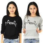 New Sale Home Simple Female Leisure Star Meow Cat Long-sleeved Sweater Hedging