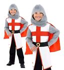 Boys ST GEORGE KNIGHT Fancy Dress Costume Outfit Medieval Crusader Georges Boys