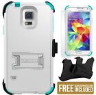 TRI-SHIELD RUGGED SKIN HARD CASE BELT CLIP HOLSTER STAND FOR SAMSUNG GALAXY S5