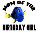 Nemo Dory Birthday numbers T shirt Iron on Transfer personlized age mom Dad