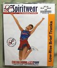 NWT Spiritwear Cheerleading Low Rise Brief Trunks White Black Blue    Adult S-XL