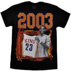 Lebron James THC 2003 King Draft Day Tee Black Basketball Cavaliers Tee Shirt