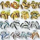 10pcs 12mm Silver/Gold Plated Crystal Wavy Loose Spacer Jewelry Finding Bead DIY