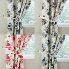 Camilla Modern Floral Flower Pair Of New Curtain Tie Backs In Blue, Grey Or Pink