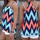 2016 New Womens Striped Vest Tops Tank Casual Strap Blouse Sleeveless T Shirt