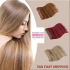 "New 16"" 18"" 20"" 100% Human Hair Extension Hidden Halo Invisible Wire Weft 100g"