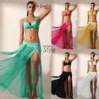 Fashion Sexy Women Elastic Waist Hem Split Cover-up Swimwear Chiffon Bikini TXST