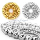 Wholesale 4/8mm Silver Gold Plated Round Ball Spacer Beads Findings 100/500 pcs