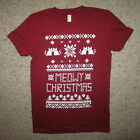 womens meowy christmas sweater funny ugly tacky kitten party merry cute t shirt