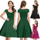 NEW CLASSY VINTAGE 1950s 1940s RETRO PIN UP SWING PARTY EVENING DRESS