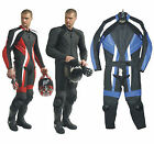 Phillip Island Bikers Gear Motorcycle Race Track 1.4m Leather 2 Pc Suit BLUE 3XL