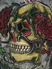 CHRISTIAN AUDIGIER MENS  PLATINUM  CRYSTAL SKULL THERMAL SHIRT  BLACK GREY