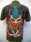 CHRISTIAN AUDIGIER MENS  PLATINUM  SMOKING GUNS POLO SHIRT W/ RHINESTONES  NWT